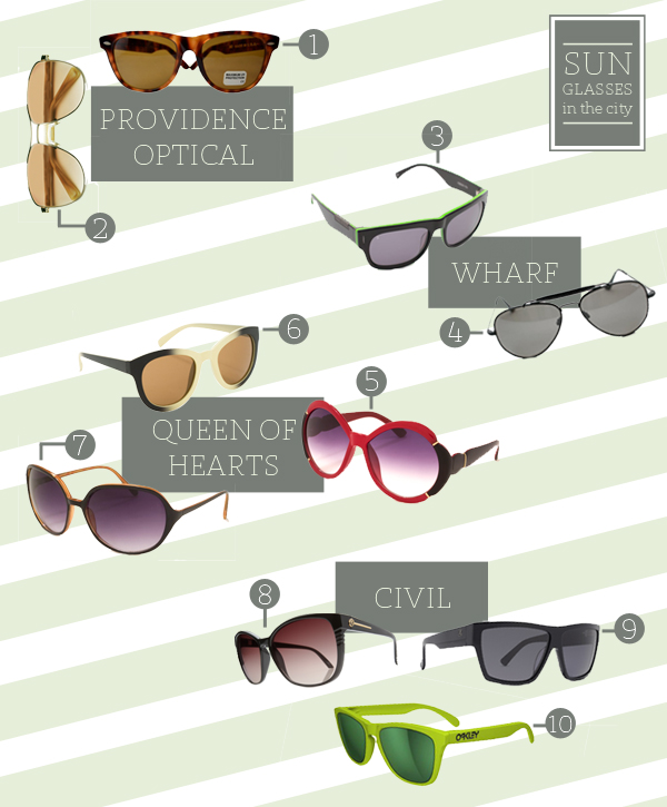 sunglasses in the city - shop local
