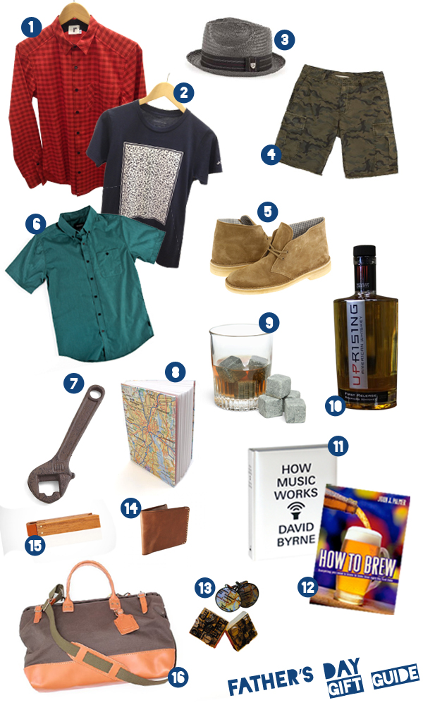 father's day gift guide by in downcity